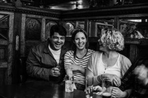 Socialising at the pub